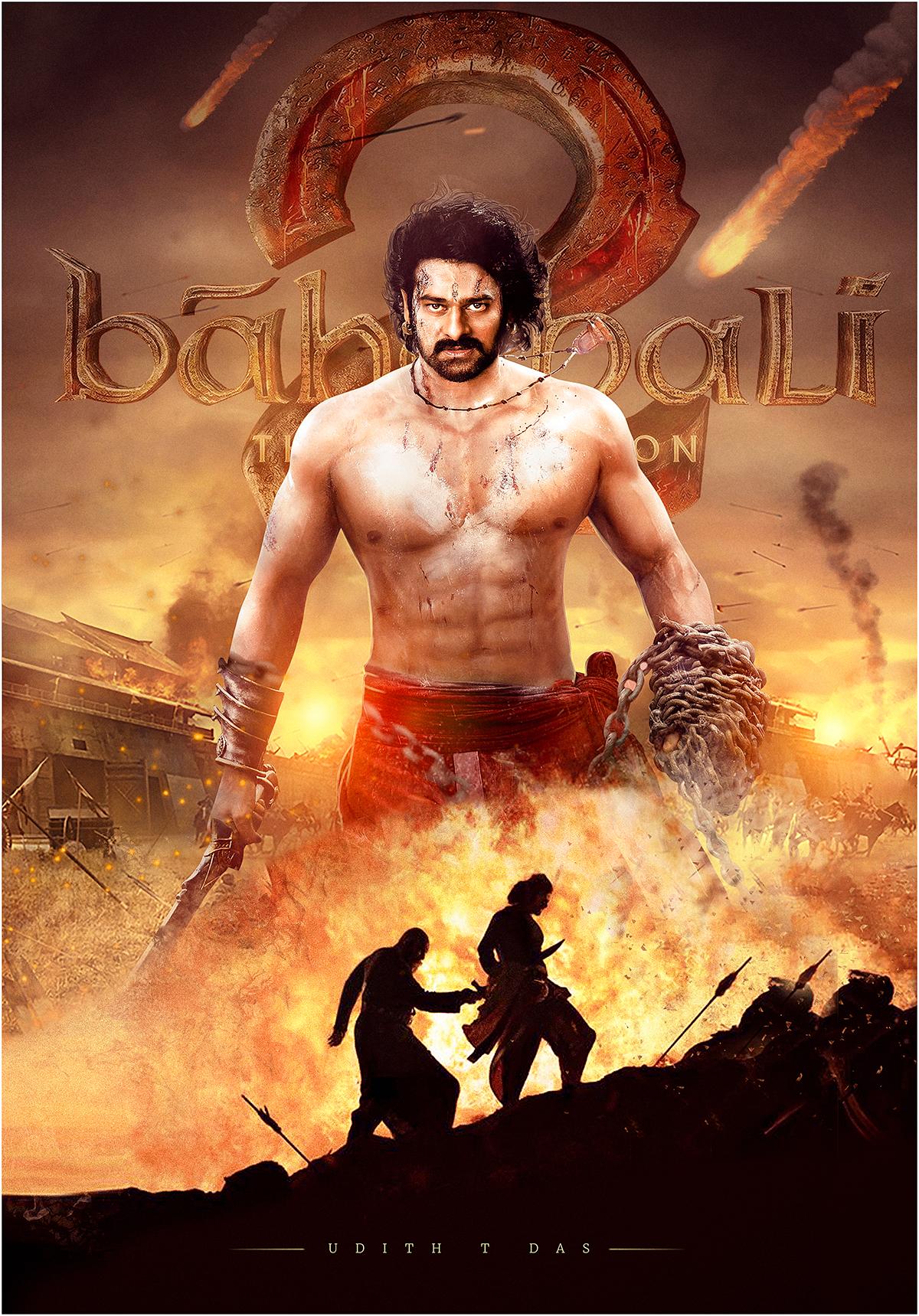 bahubali poster on behance