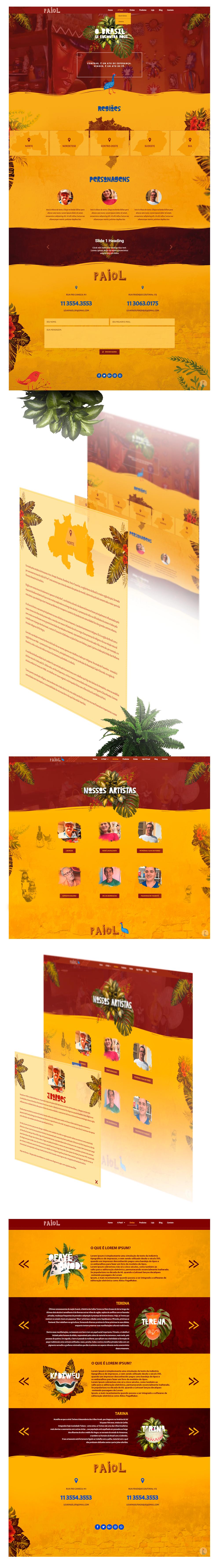 Web site Web Design  Layout wordpress Tribos etnias artesanato