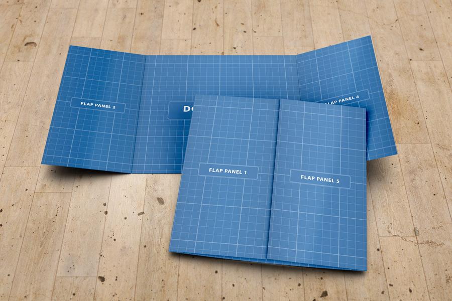 Square Gate Fold Brochure Mockup on Behance – Gate Fold Brochure Mockup