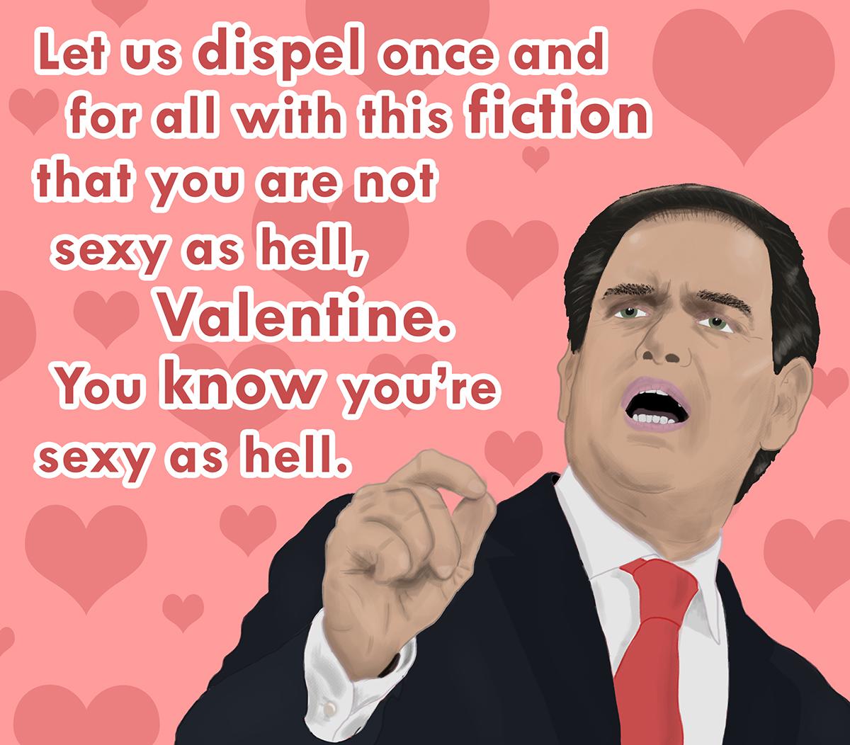 Marco Rubio Valentine\'s Card on Behance