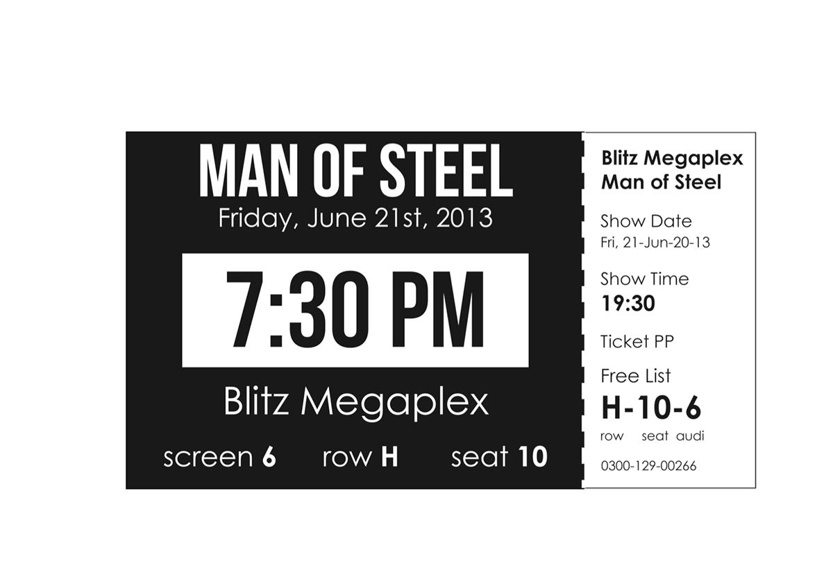 Blitz megaplex movie ticket redesign on behance reheart Gallery