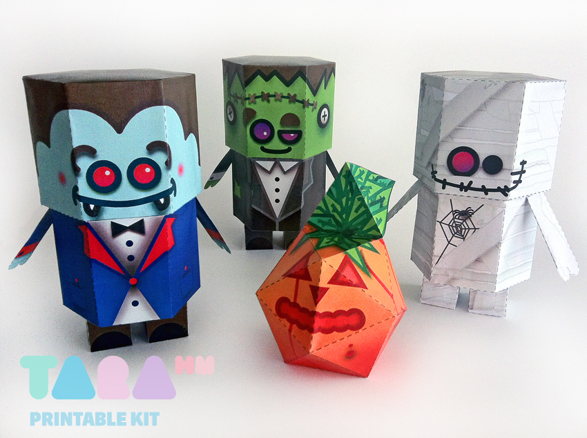 picture about Printable Toy referred to as Do it yourself Paper Toys Monsters, Mounted of 4 Printable Monsters upon Behance