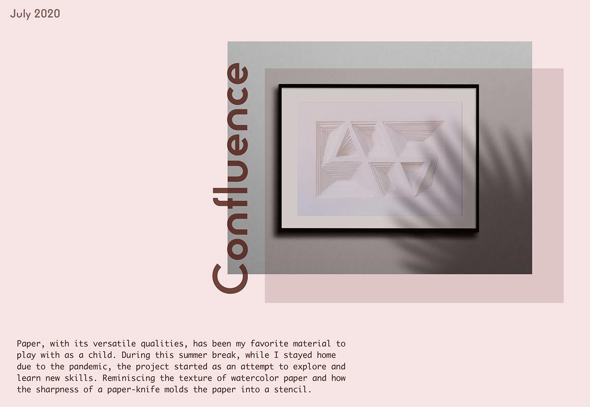 curves geometric layers paper sculpture sculpture symmetry terrain design process op art