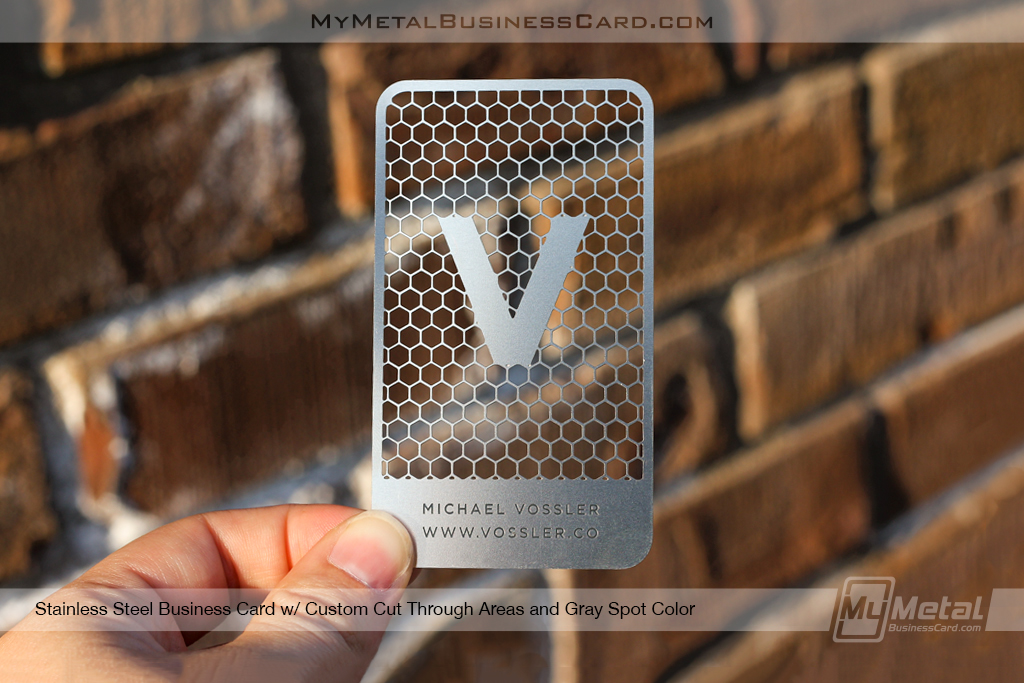 Stainless steel metal business card with custom cutouts on behance colourmoves