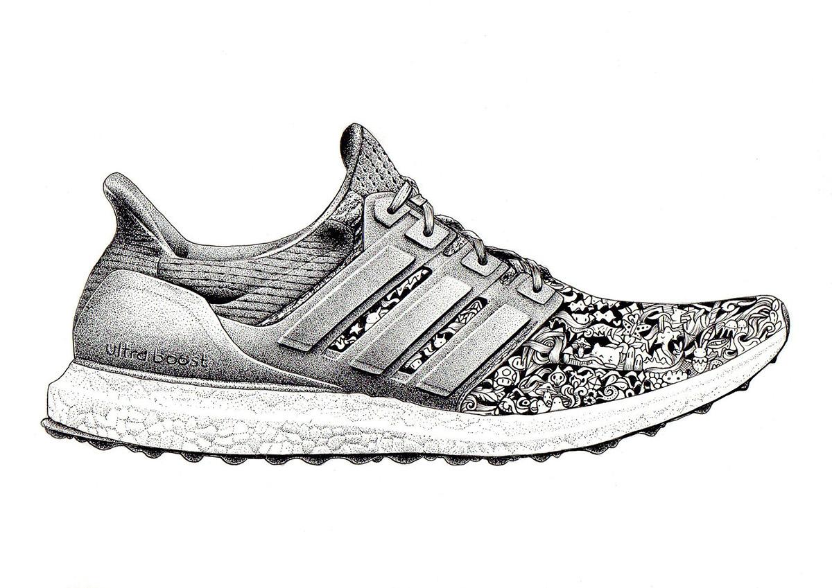 Adidas Boost Drawing Cityliveindia Com