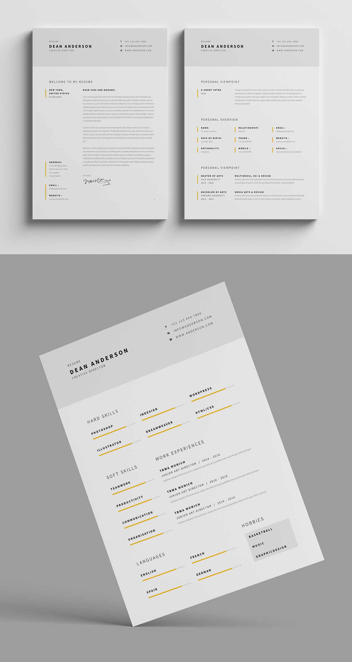 Fantastic Examples of Creative Resume Designs Who