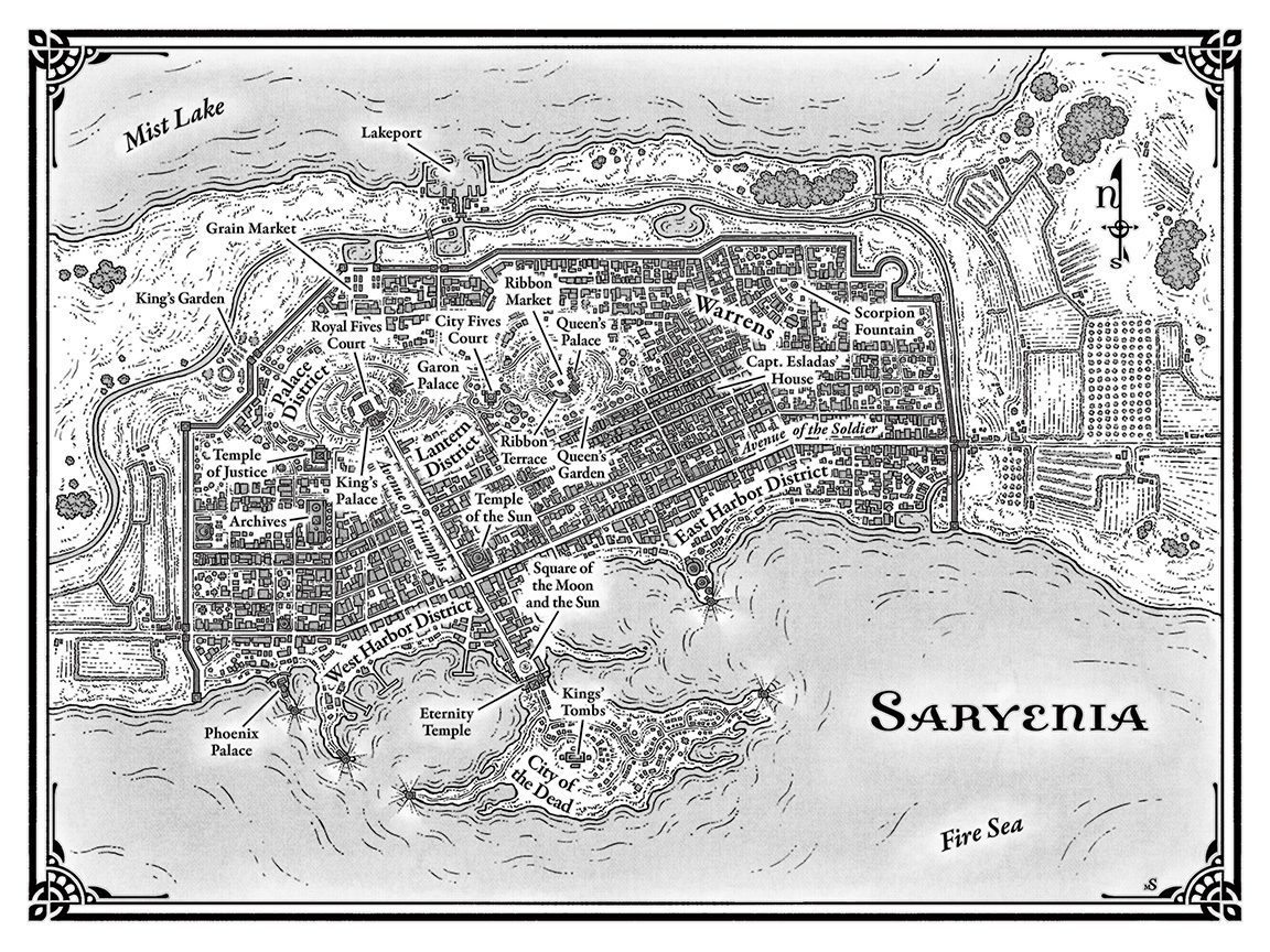 Saryenia Map from Court of Fives