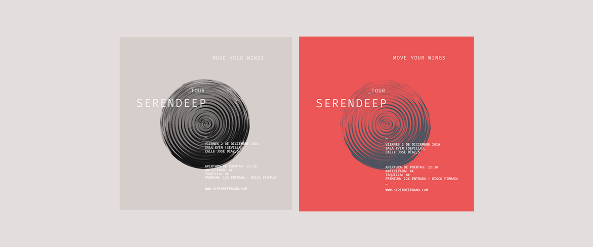 music gig desig experimental red graphic design