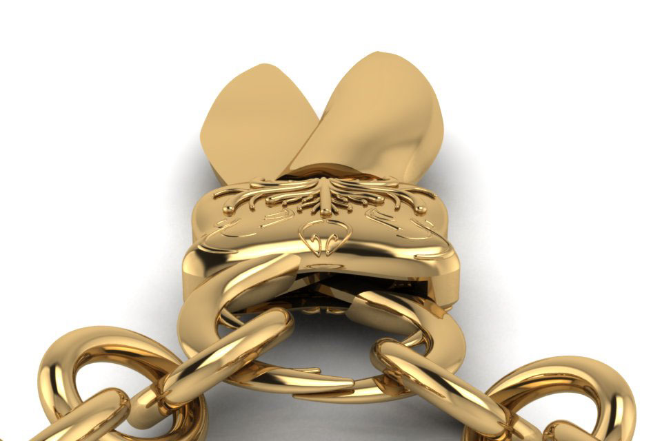 jewelry 3D locket lock beetle product cad
