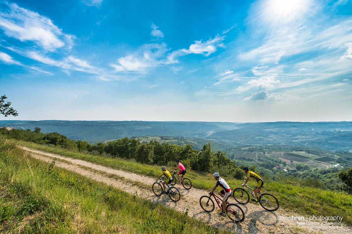 parenzana trekking running Bicycle route view Landscape istria istra Croatia tourist Board promo advert