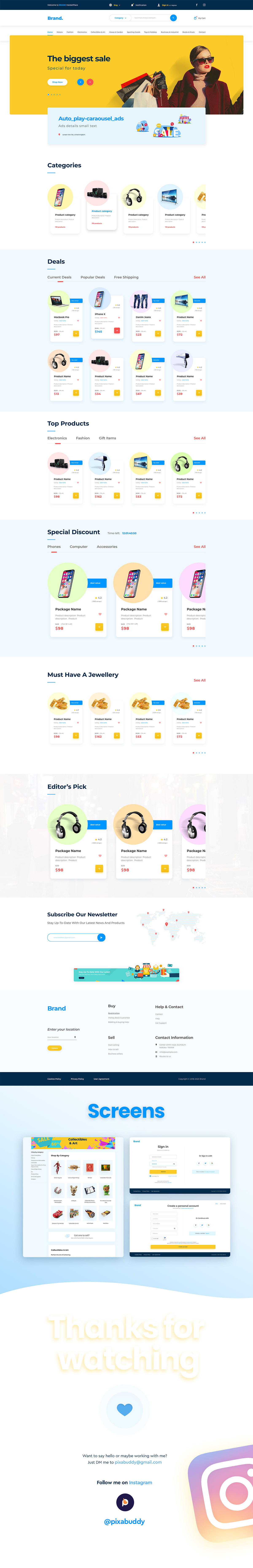 Clean UI design designer dribbble ecommerce website minimal design Shopping ui design UX design Webdesign