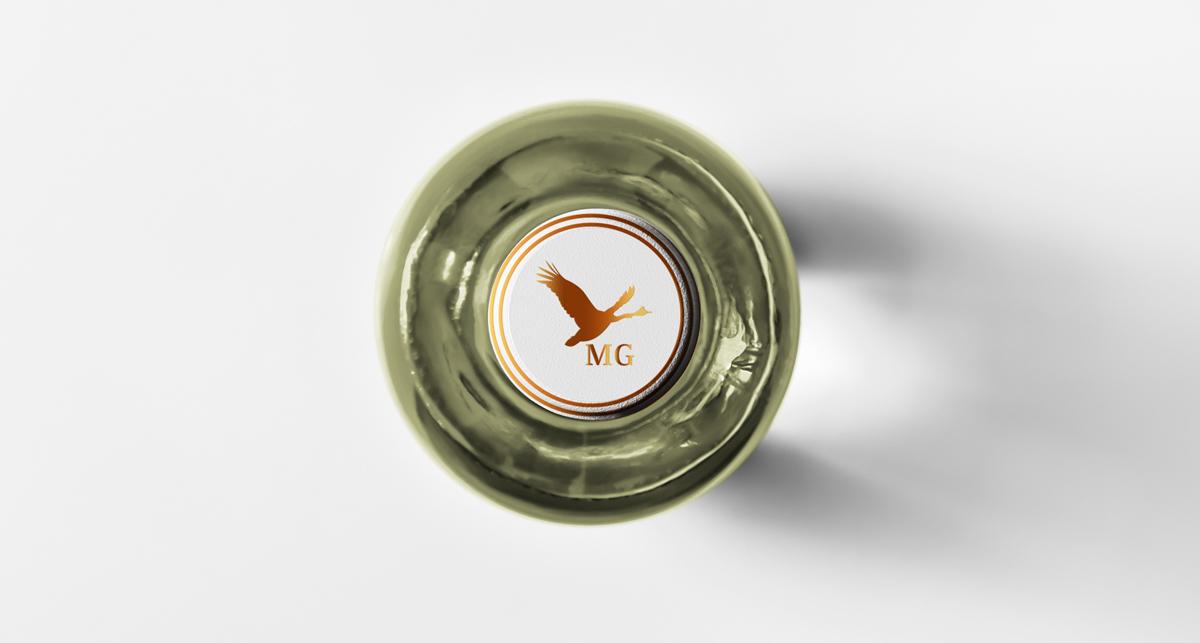 wine label branding  identity foil