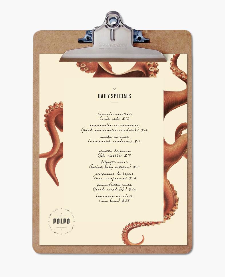 restaurant Venice Food  menu sign Signage seafood