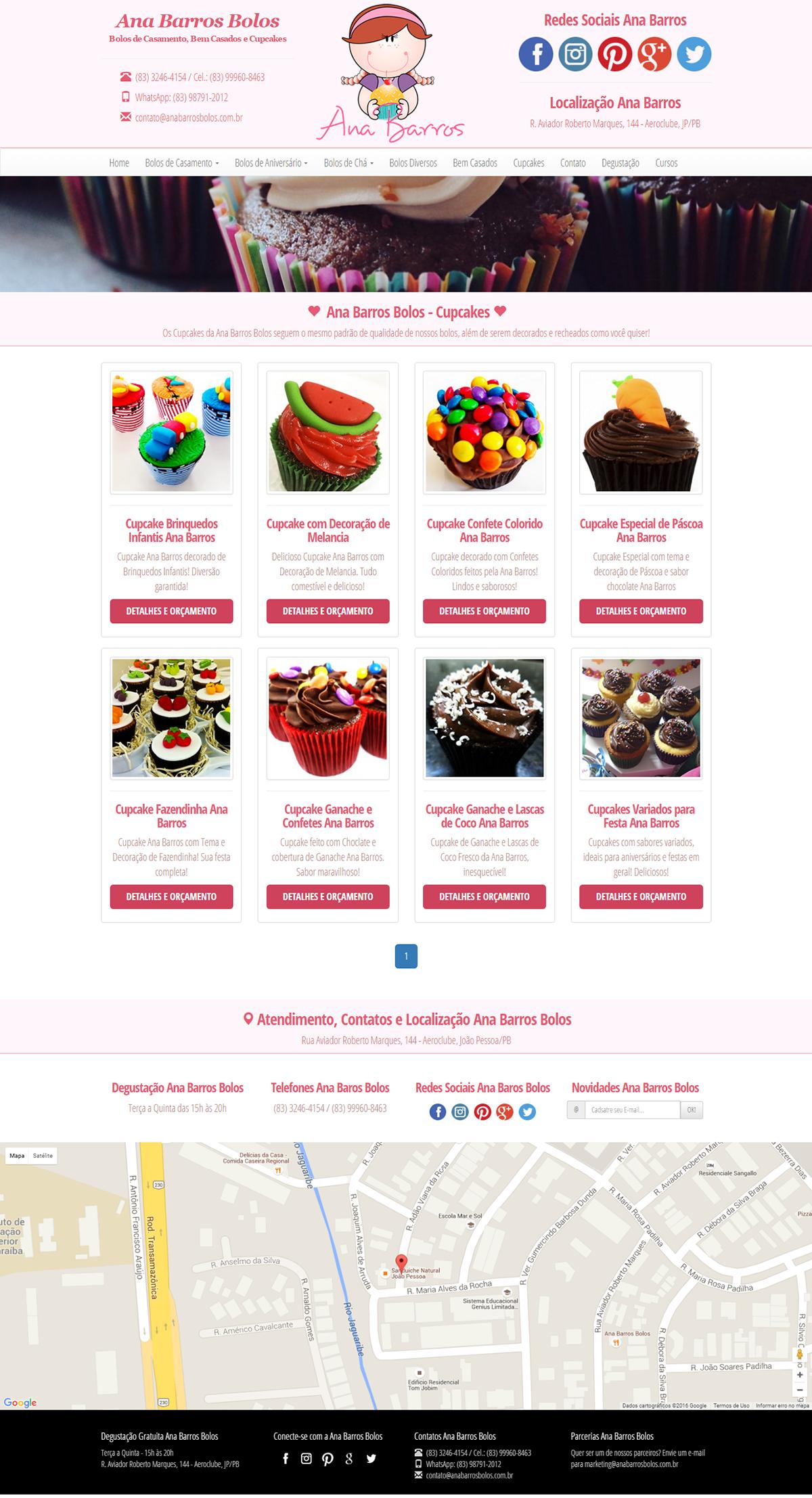 Desenvolvimento do Site - Ana Barros Bolos