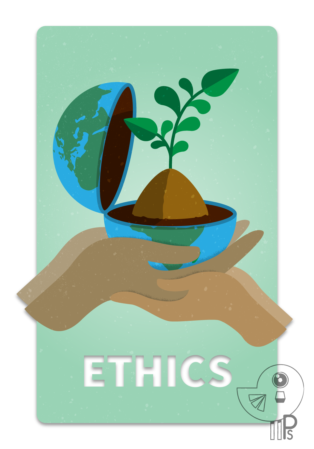 permaculture Ethics people care Fair share earth card design