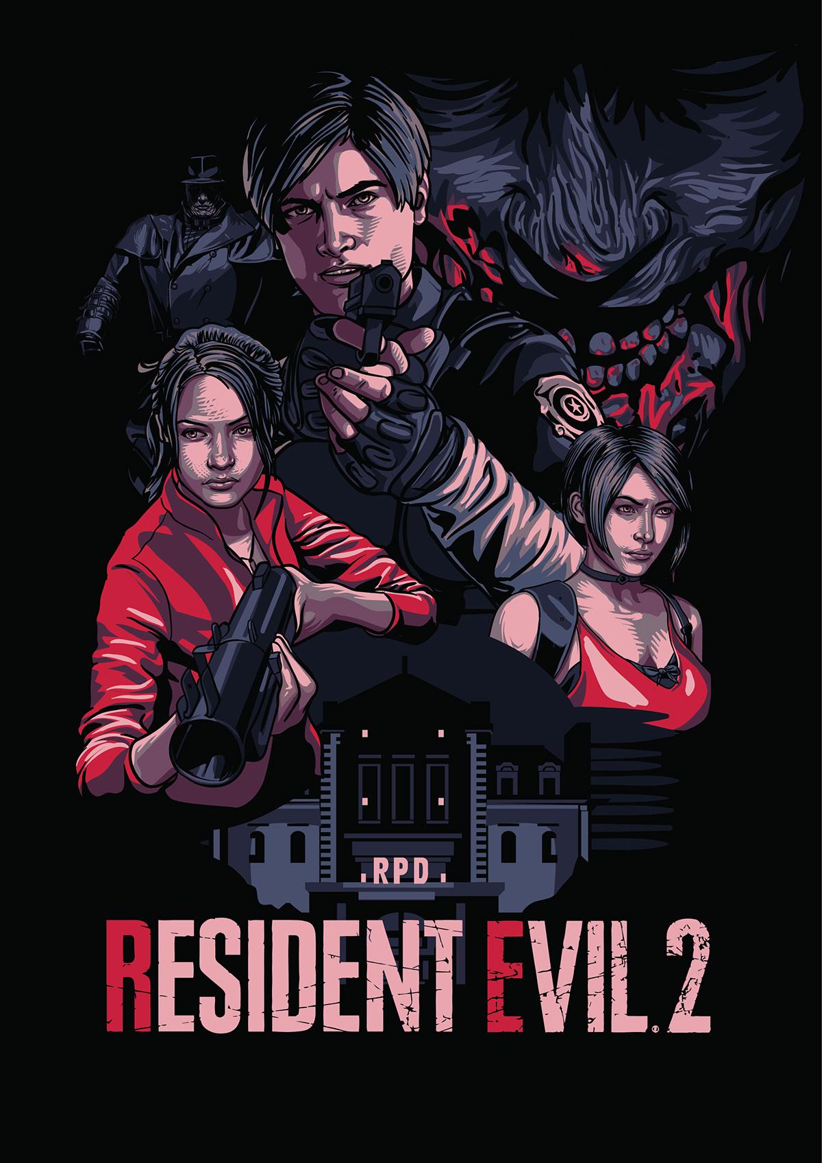 Resident Evil 2 Remake Poster On Behance