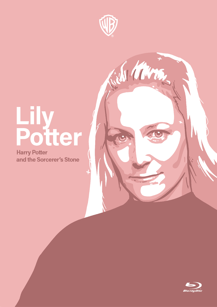 color DVD female graphic design  harry potter ILLUSTRATION  minimal poster
