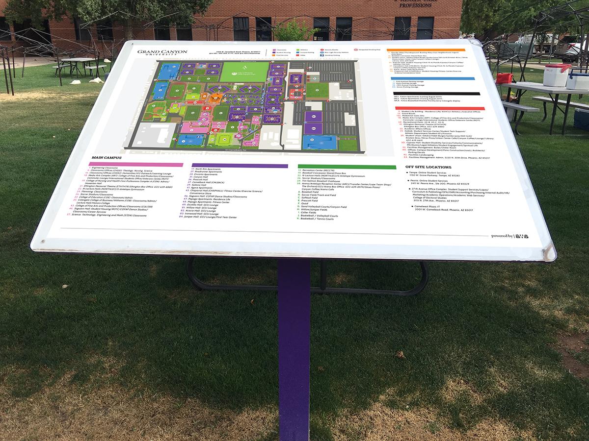 GCU Interactive Campus Map on Behance