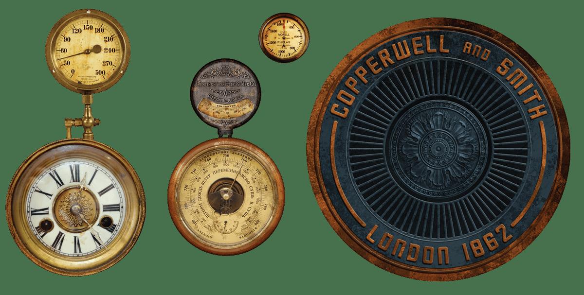 Image may contain: gold, metal and circle