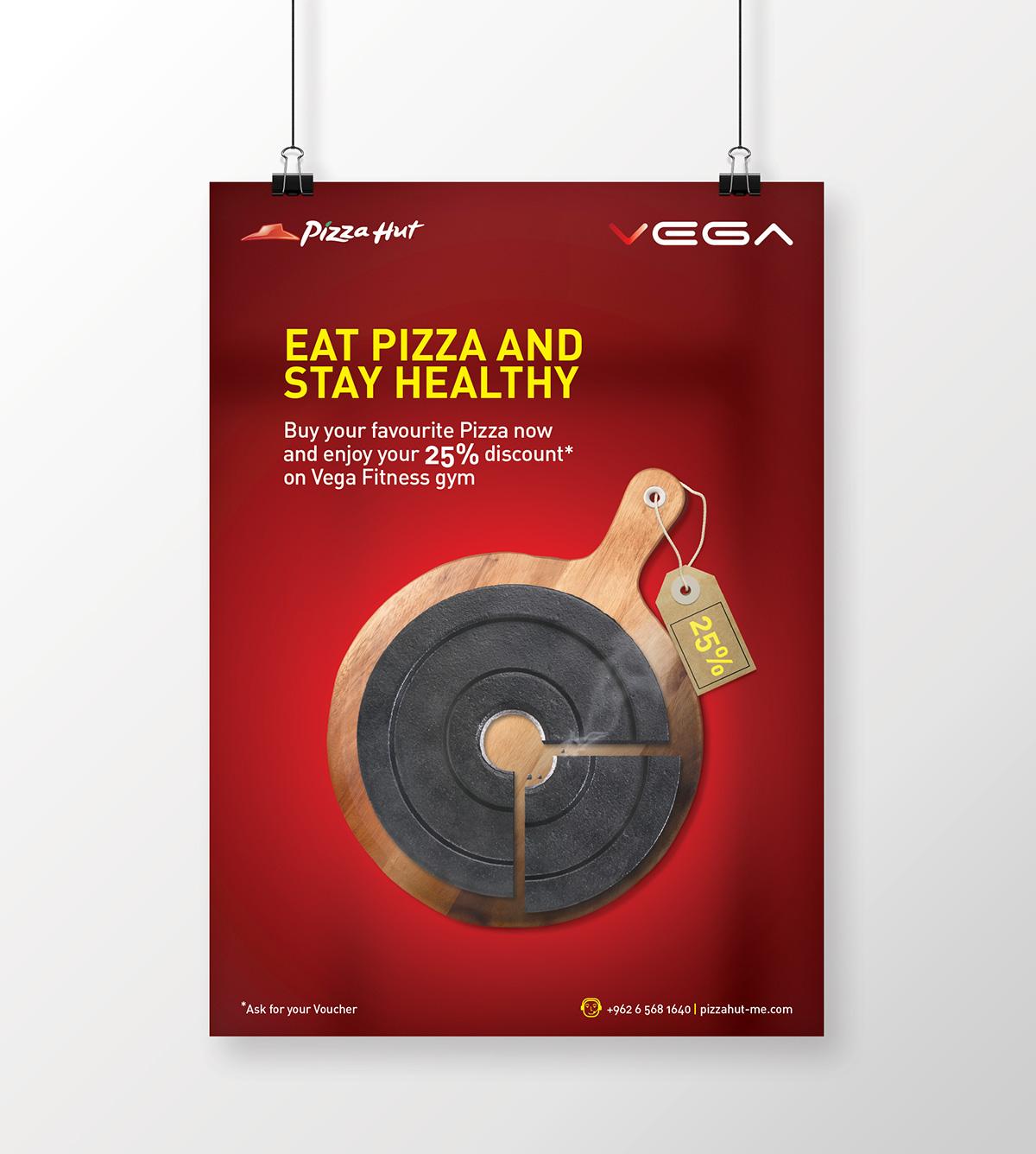 PIZZA HUT Offer for Vega Gym members (Concept) on Pantone