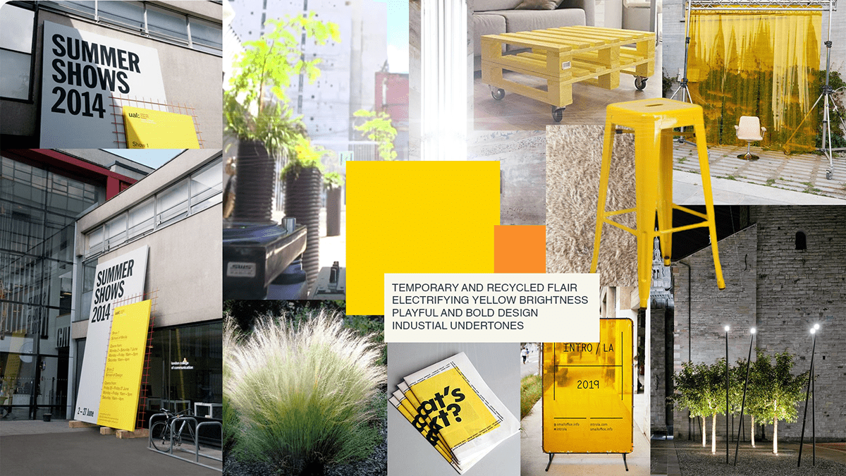 brewery Brooklyn Carlsberg industrial light design outdoor space pallets Stockholm yellow