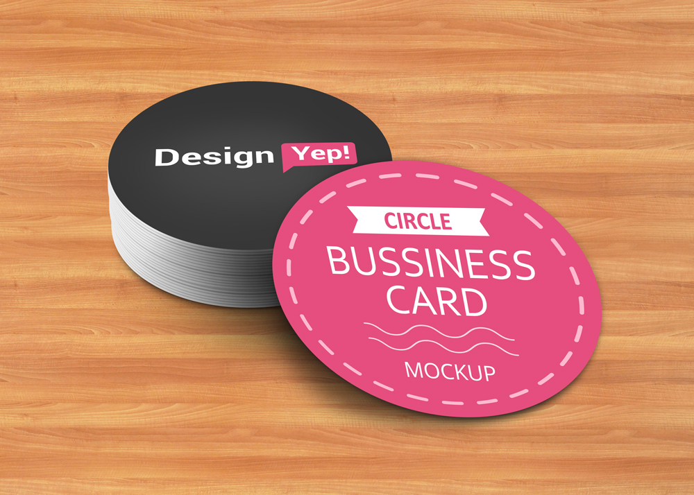 Free Circle Business Card Mockup Psd On Behance