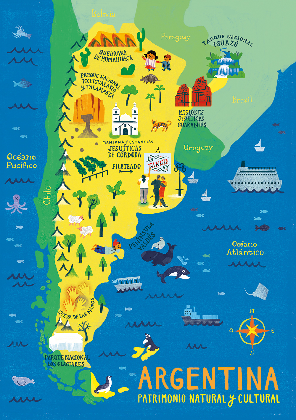 Argentina Map Puzzles On Behance - Argentina misiones map