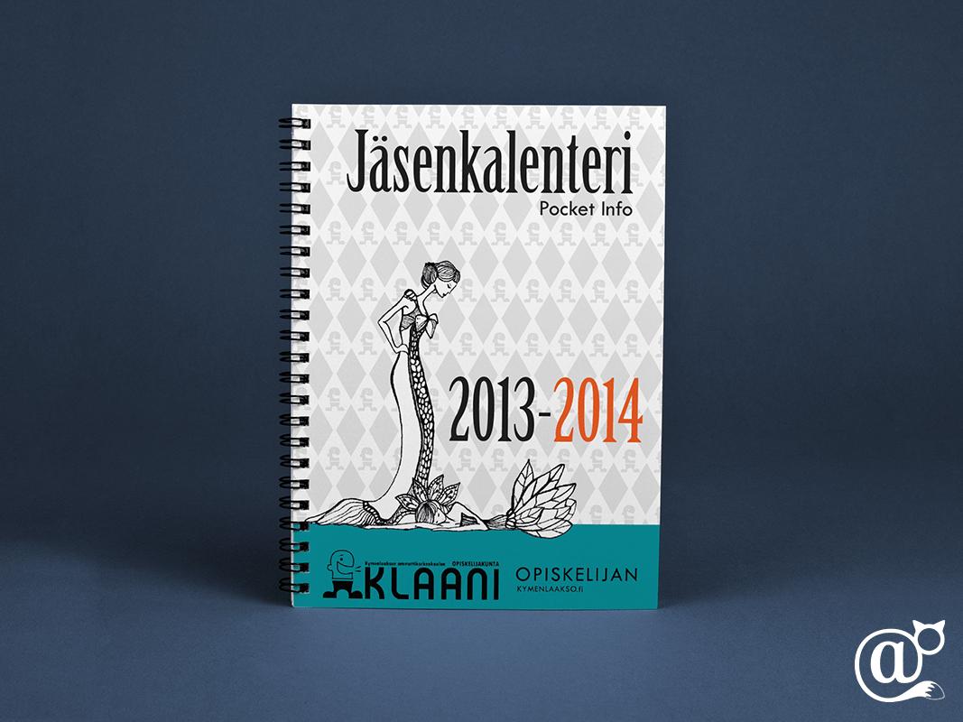 Student Union Klaani student union redesign graphic design  Layout info booklet calendar