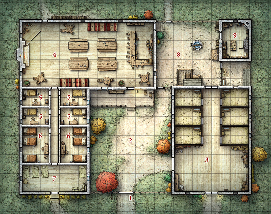 RPG Tavern Map