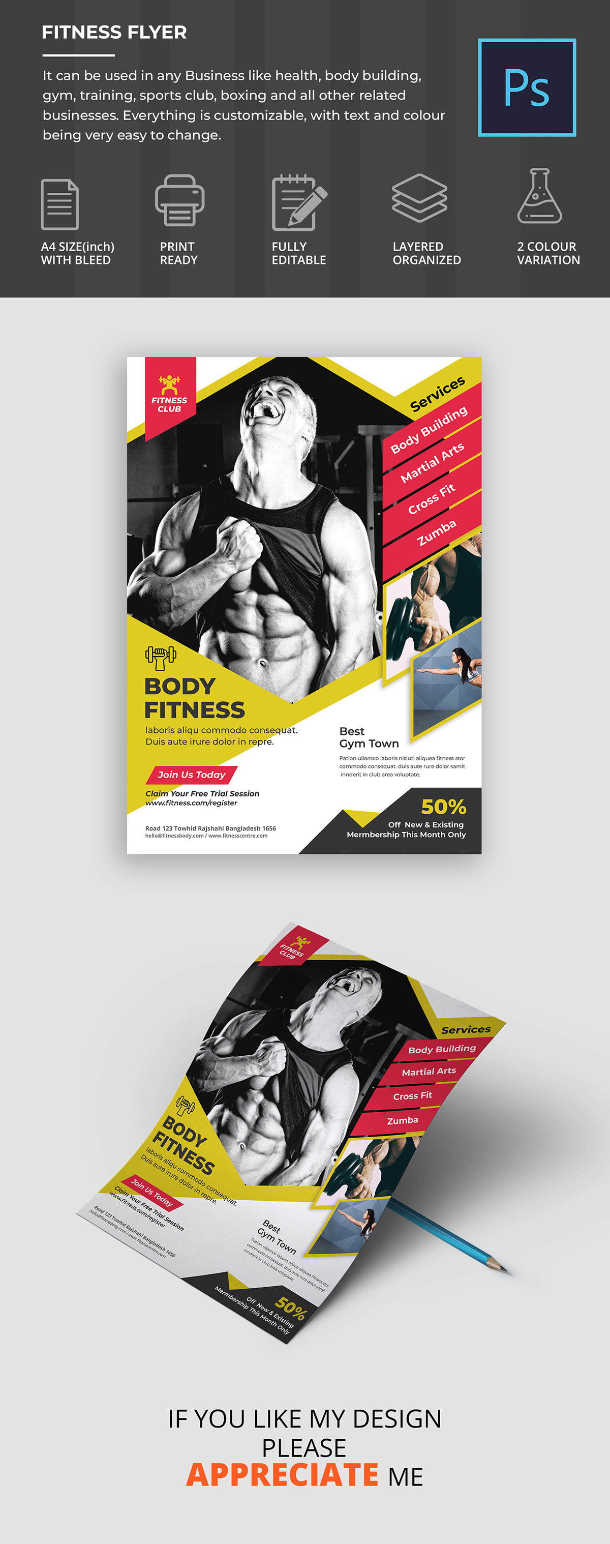 Fitness Flyer on Student Show