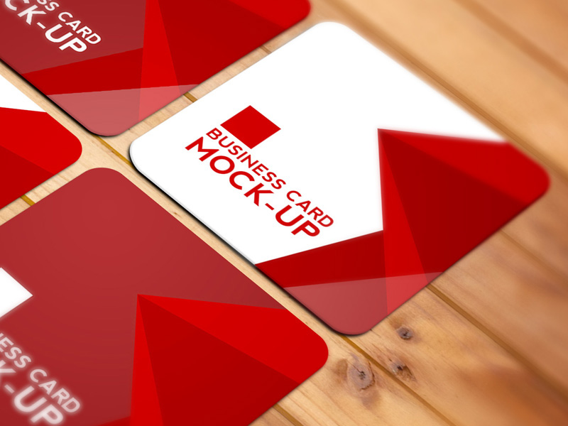 Square business card mockup free psd on behance reheart Image collections
