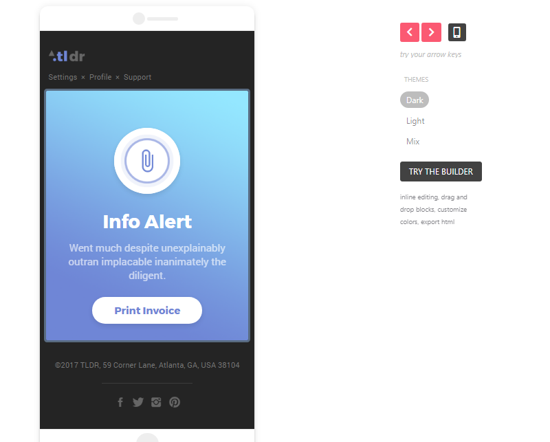TLDR - GIF Animated Email Notification Templates on