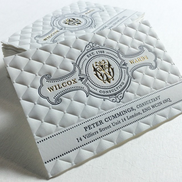 3d embossed foiled business cards on behance reheart Choice Image