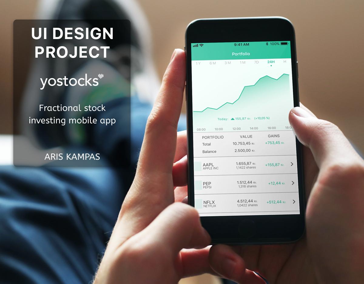 stocks Investment Mobile app fractional user interface User Interaction stock trade app trading