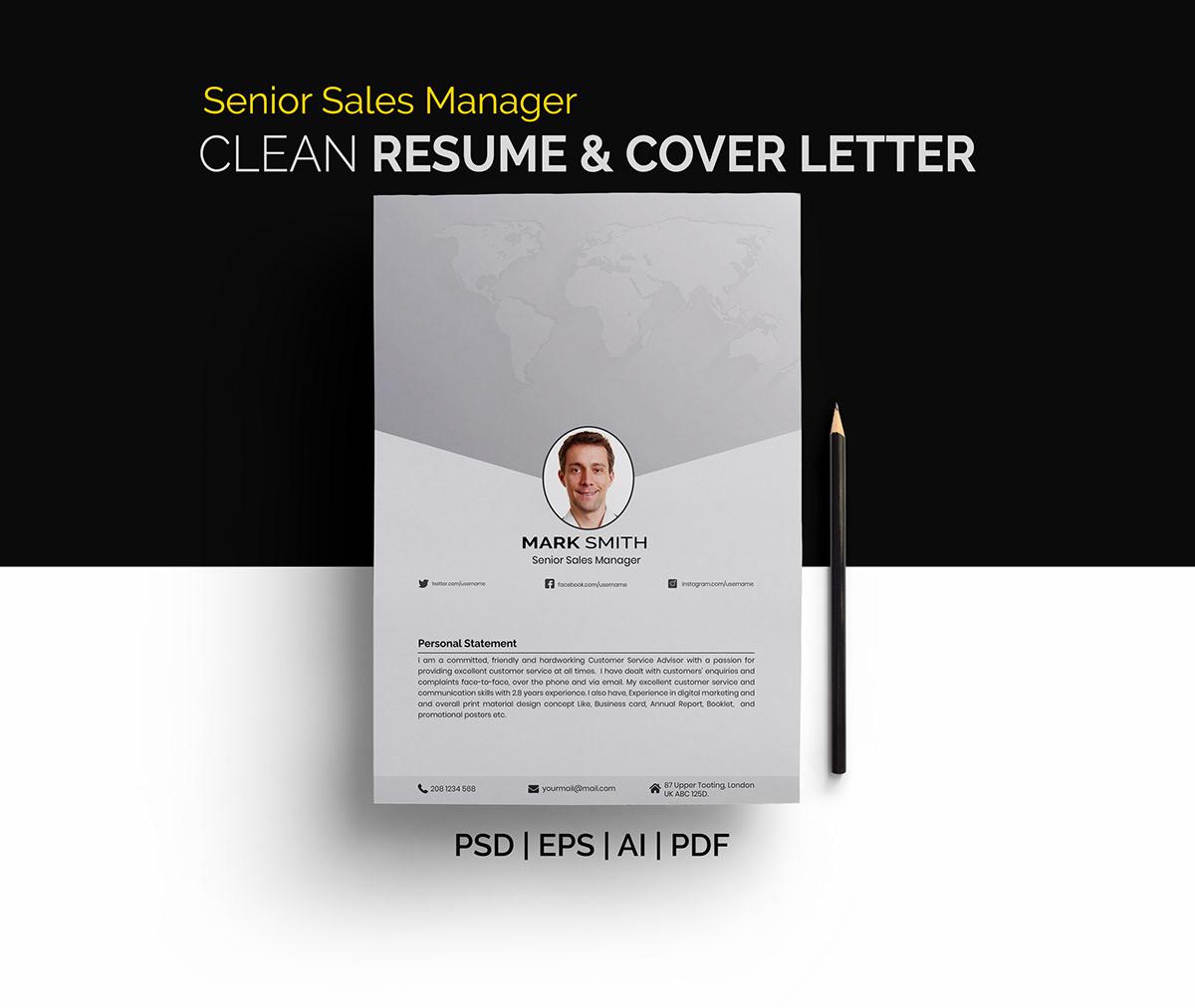 Senior marketing manager resume/ CV on Wacom Gallery