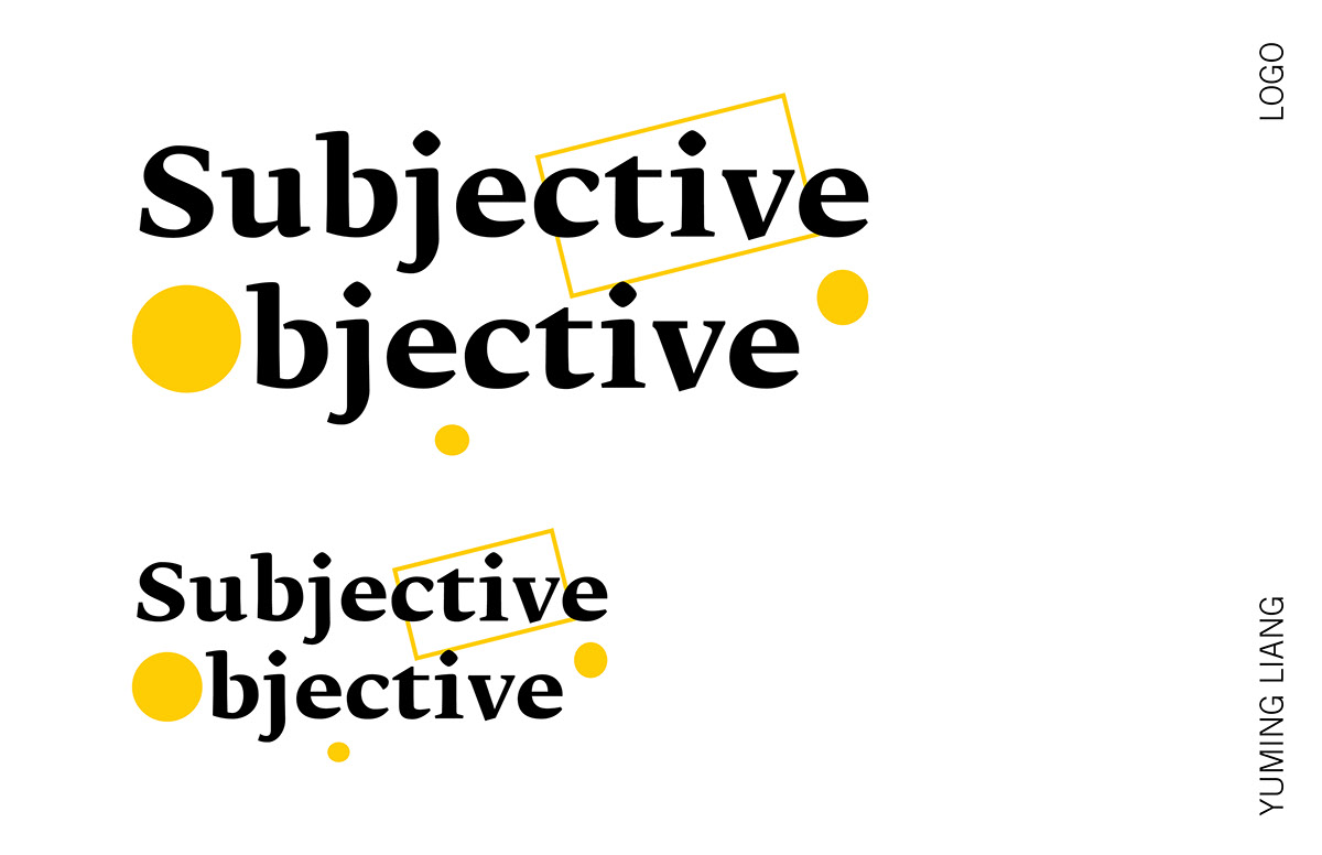 subjective objective poster on mica portfolios subjective objective poster graphic design
