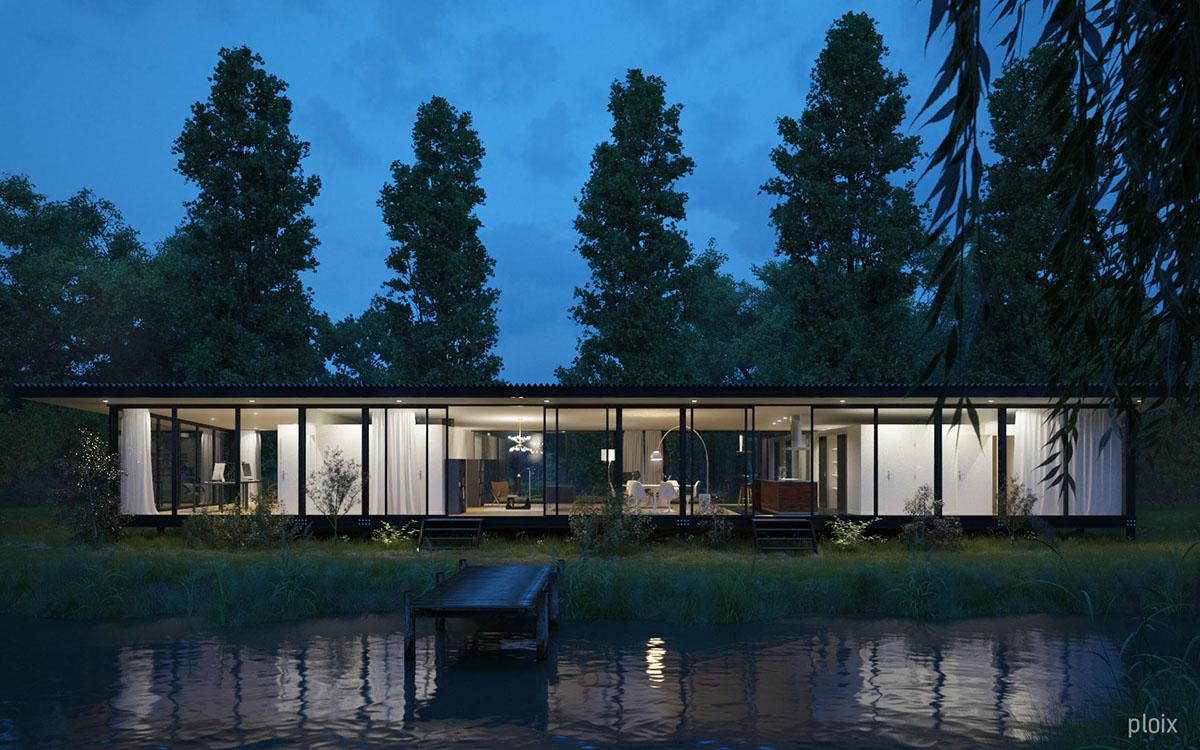 Barres coquet architectes la maison de verre on behance - Maison de verre ...