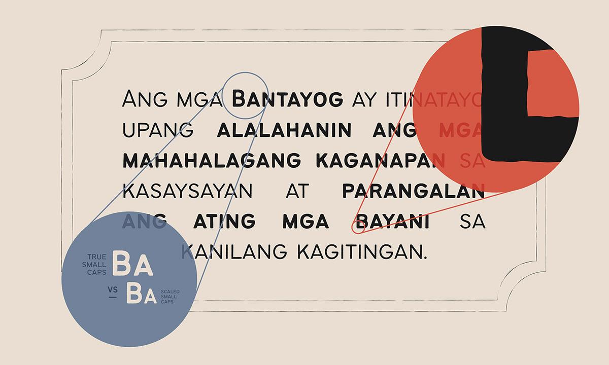 Display filipino font philippines rough sans serif Bantayog Free font Typeface all caps