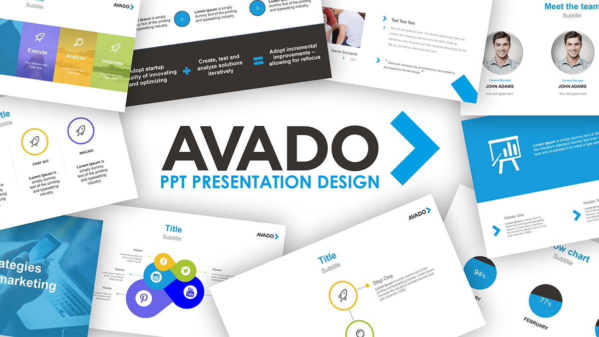 Powerpoint Presentation Template Design On Pantone Canvas Gallery
