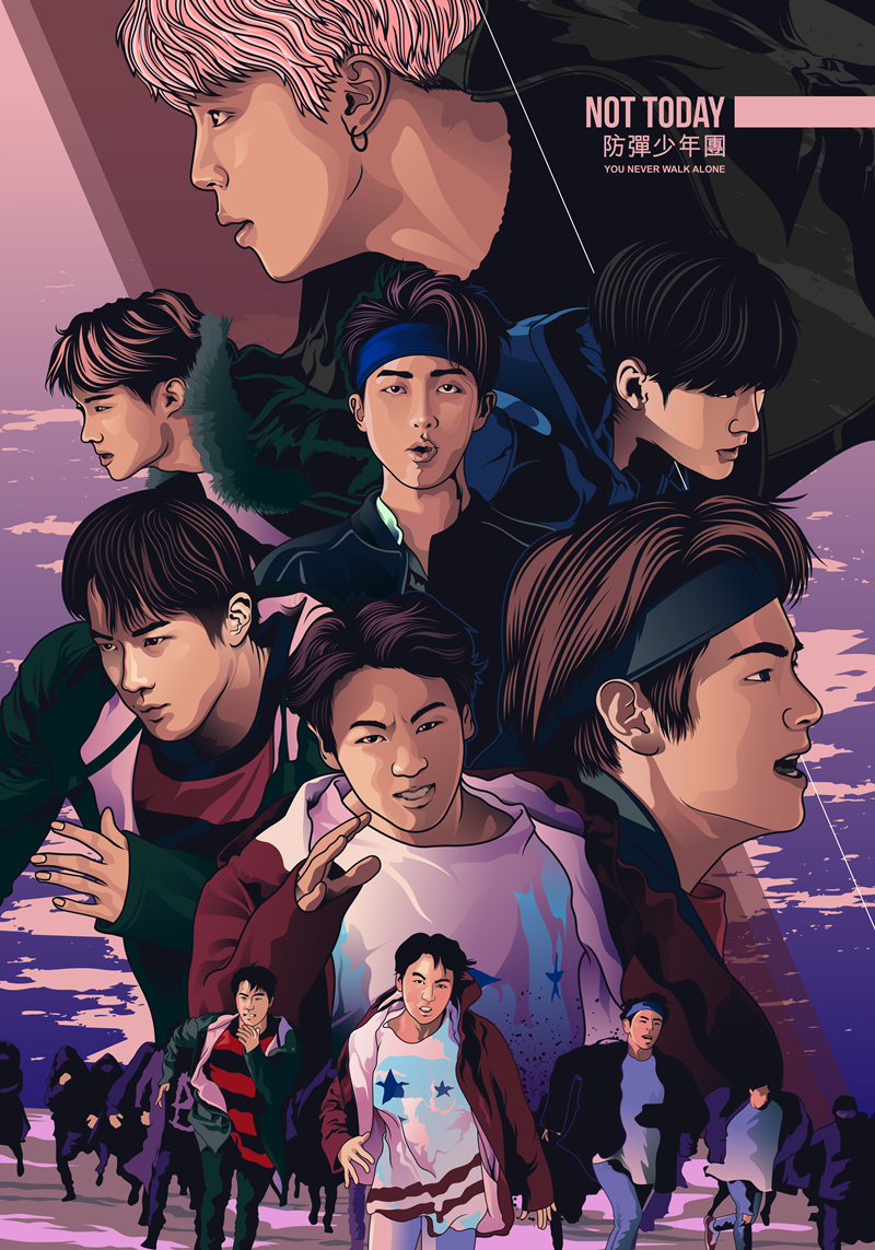 Bts Not Today On Behance