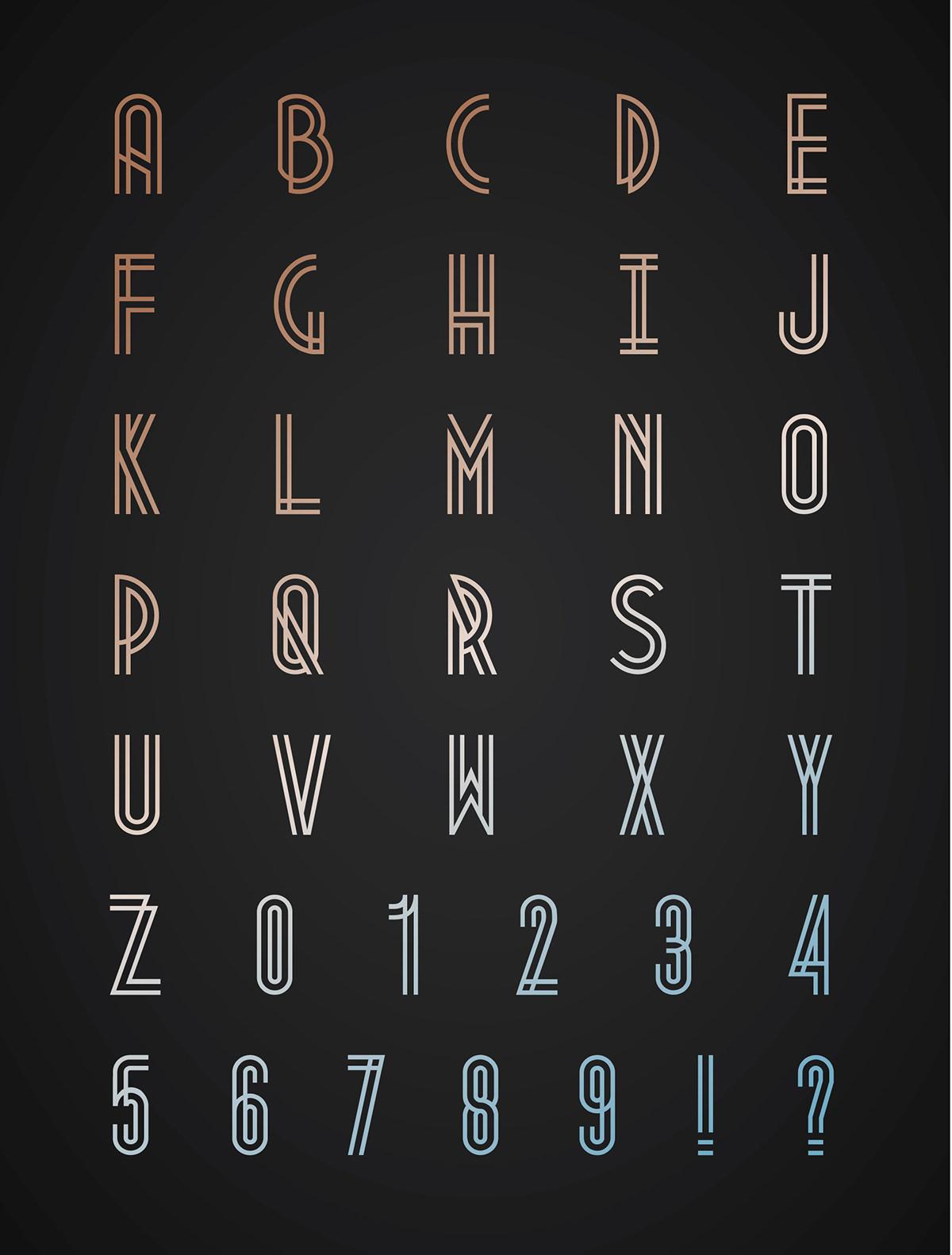 Adobe Portfolio metropolis free font art deco industrial metro