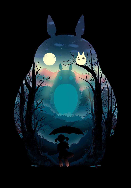 anime Fan Art Ghibli ILLUSTRATION  japanese art movie my neighbor totoro totoro TRENDING