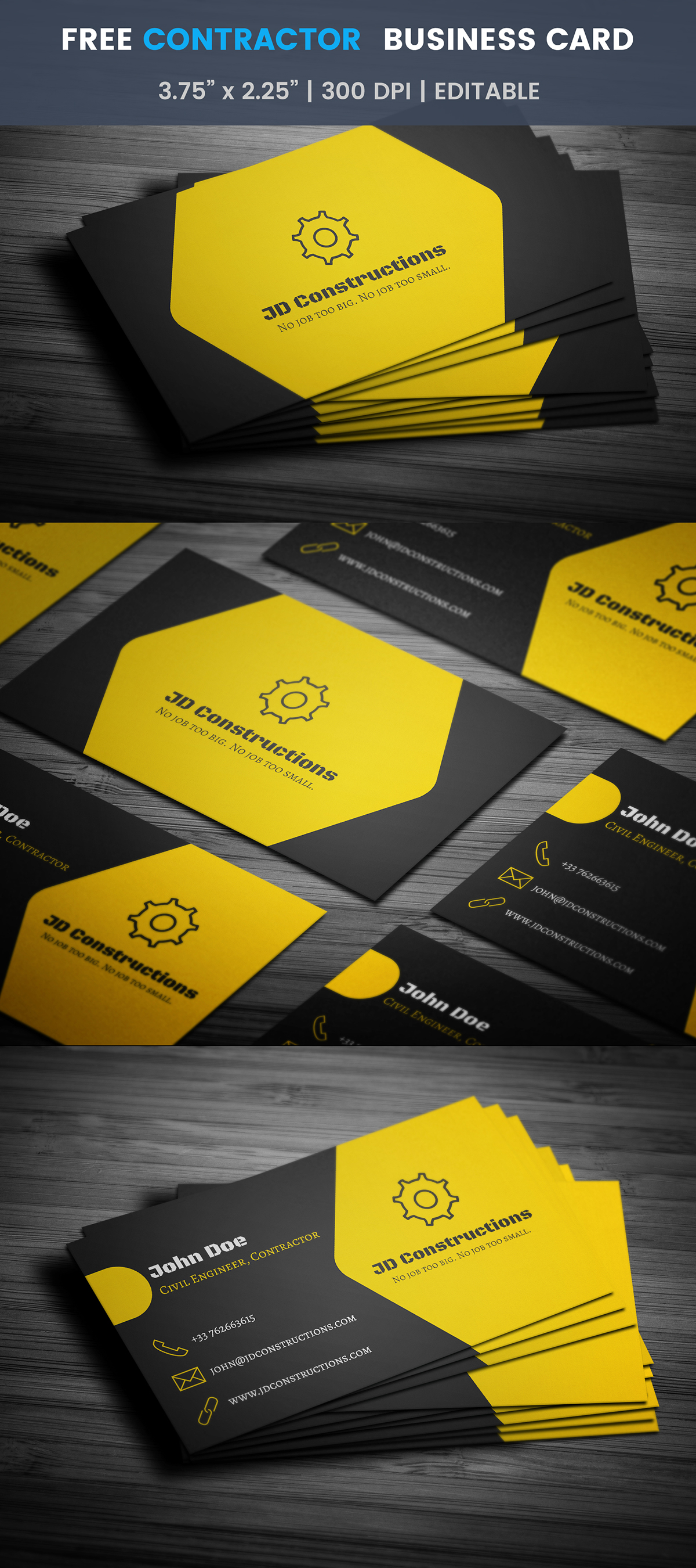 Free construction business card template on student show free construction business card template fbccfo Images