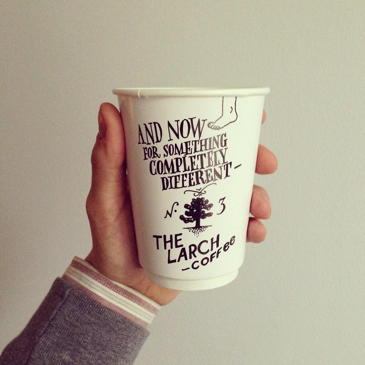 Coffee cup freehand comic strips