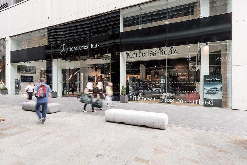Mercedes benz pop up shop westfield stratford on behance - Mercedes benz garage london ...