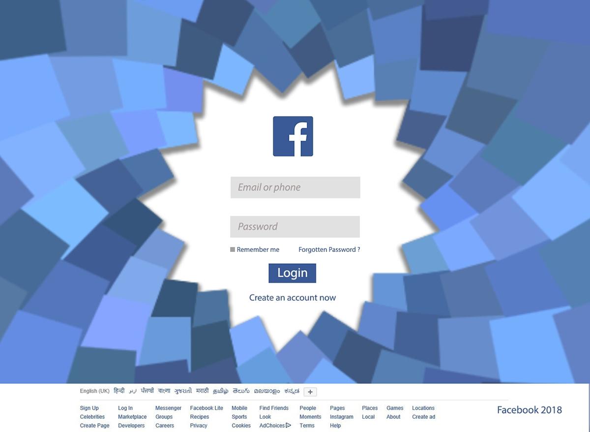 Facebook redesign - Web design on Behance