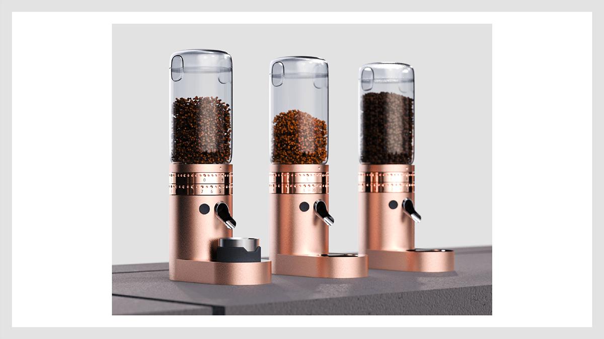 appliance architecture bar Coffee Inclusive industrial design  Innovative kitchen rendering visualization
