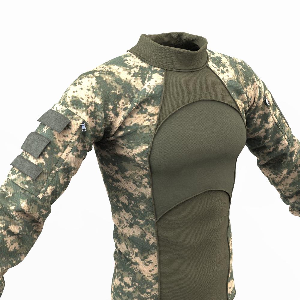 Marvelous designer military combat shirt on behance for Army design shirts online