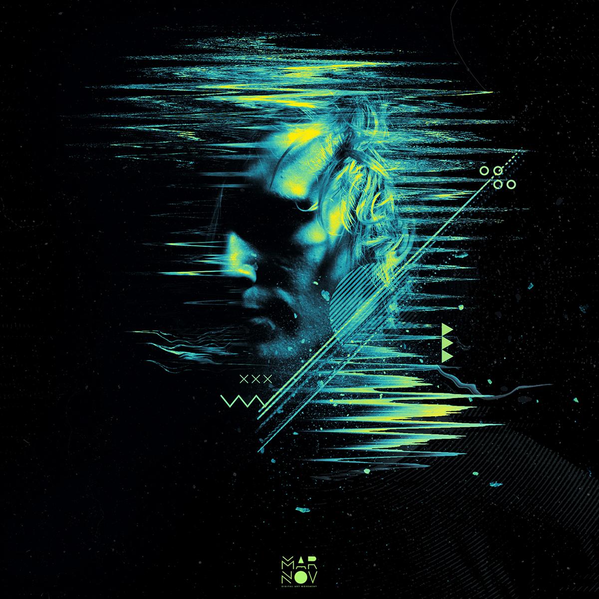 art artwork photoshop Photography  graphic design  Digital Art  abstract glitch art music album art