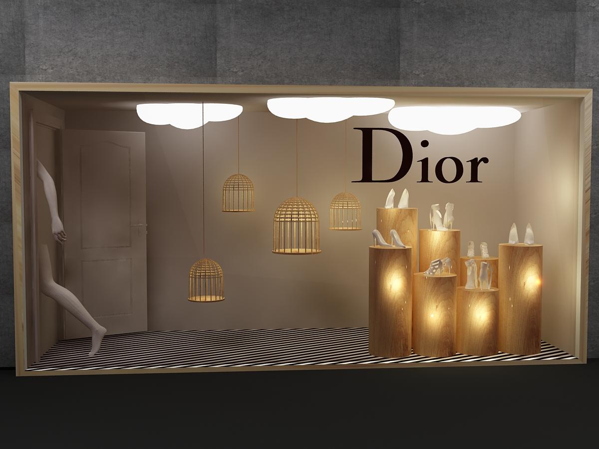 Exhibition Booth Behance : Dior window display on behance